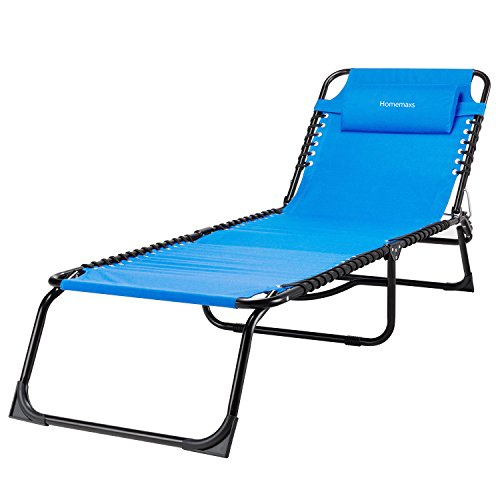 Homemaxs Lounge Chair Chaise Folding And Adjustable Zero